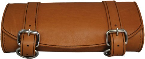 Tan Motorcycle Saddlebags - 9