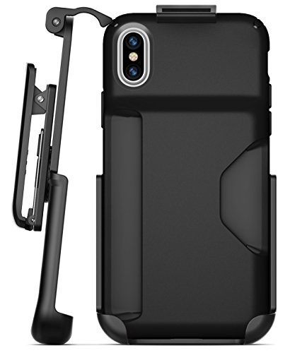 Encased Belt Clip Holster Compatible with Speck Presidio Wallet Case - iPhone X- iPhone Xs (case not Included)