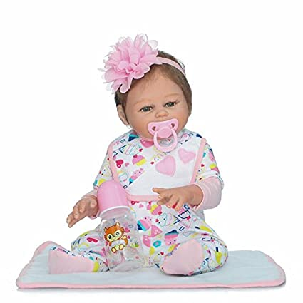 fb9fb0f7e Amazon.com  iCradle Full Body Vinyl Silicone Reborn Toddler Doll 20 ...