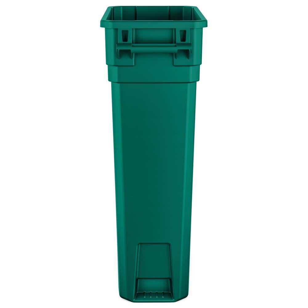 4-Pack Grey Basics 23 Gallon Commercial Slim Trash Can No Handle