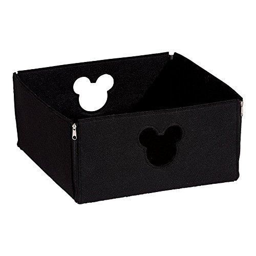 Disney Silhouette Punch - Ethan Allen | Disney Small Fantastic Felt Square Basket, Mickey's Ears Black