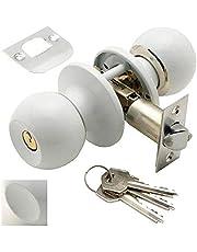 Wolfpack 3030605 deurknop met slot/sleutel, wit