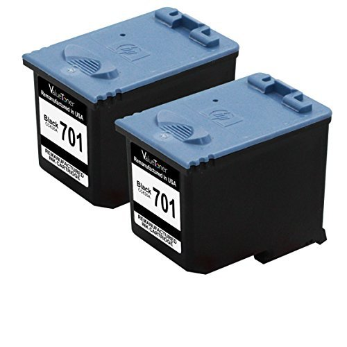 Valuetoner Remanufactured Ink Cartridge Replacement For Hewlett Packard HP 701 CC635A (2 Black) Compatible With FAX 640 650 2140 Printer