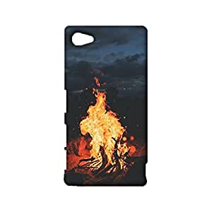 Sony Xperia Z5 Compact 3D Safekeeping Phone Case Scorching Flame Image Cover Shell Snap on Sony Xperia Z5 Compact Dustproof Mobile Shell