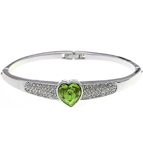 [LuxuryLady-8 Lucky Heart Design Charm Pendant Simple Fashion Women Female Bracelet(C1)] (Brazilian Costume Ideas For Men)