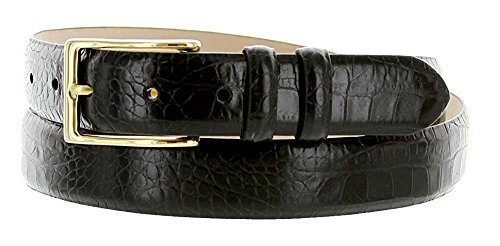 Hagora Men's Eclectic Embossings Real Calfskin Leather 1-1/8