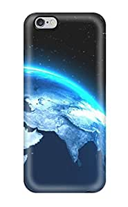 AnnaSanders Scratch-free Phone Case For Iphone 6 Plus- Retail Packaging - Planets Sci Fi People Sci Fi