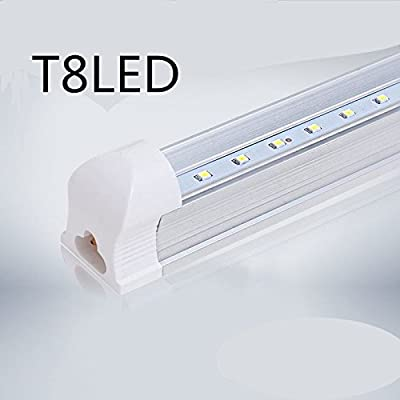 T8 LED tube 4 feet 48 inch 24W192pc V-type dou ble row lampLED 6000K color temperature 2500 lumens 50,000 hours LED tube transparent cover UL and CE certified Operating temperature: -20 ? to 50 ?