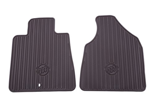 General Motors Gm Rubber - General Motors GM Accessories 22890386 Front All-Weather Floor Mats in Cocoa with Buick Logo