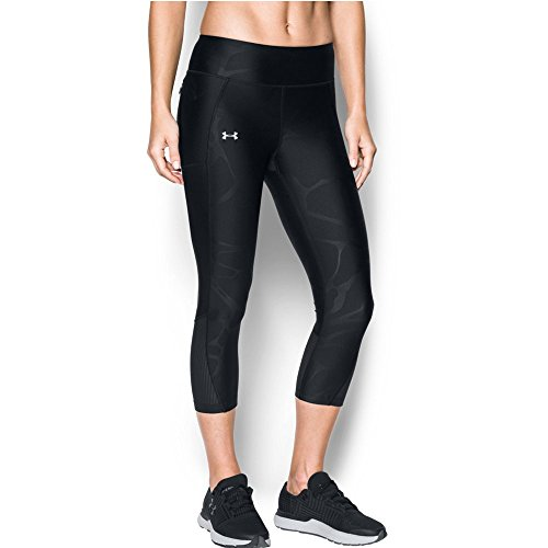 Under Armour Women's Fly-By Printed Capri, Black (011), X-Large
