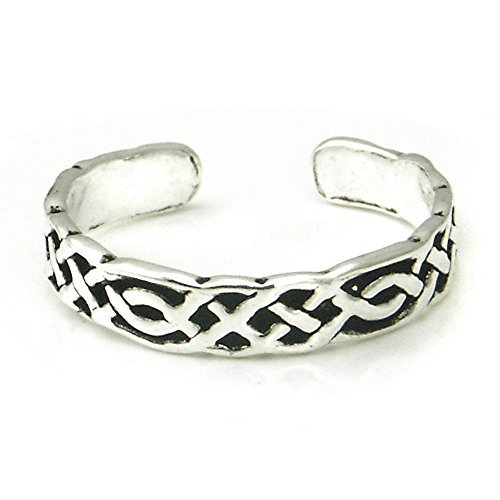 Sterling Silver Antique Celtic Knot Adjustable Toe Band Ring Metal Factory