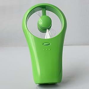 Pech¨®n verde Mano Mini Mudo estupendo operado USB / de la Bater¨ªa del ventilador
