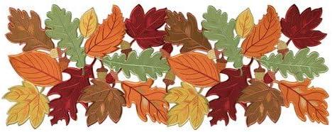 Table Runner Thanksgiving Fall Harvest Festive 13x36 New Orange Red Green Plaid