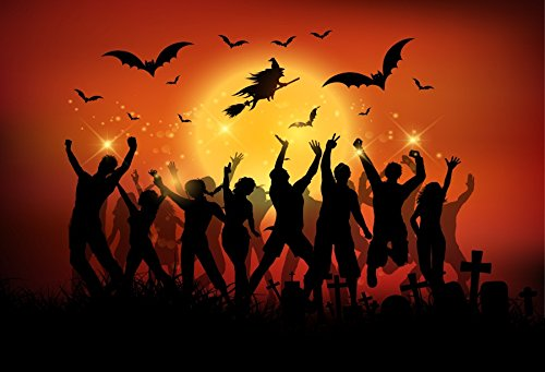 Yeele 6x4ft Halloween Backdrop Zombie Witches Bat Horror Night Party Banner Photography Background for Picture Kids Children Baby Portrait Photo Booth Shooting Vinyl Photocall Studio Props ()