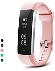 Letsfit Sport fitness tracker ID115U, IP67 Waterproof Activity, Pedometer, Sleep Monitor, Step Counter, Slim Smart Watch for Kids Women and Men, Purple, Standard
