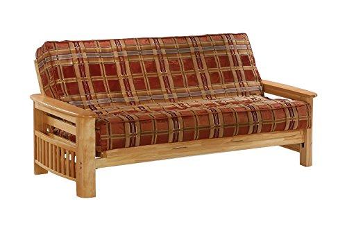 Night And Day Furniture Portofino Chair Futon Frame In Natural Finish - Portofino Futon Chair Frame