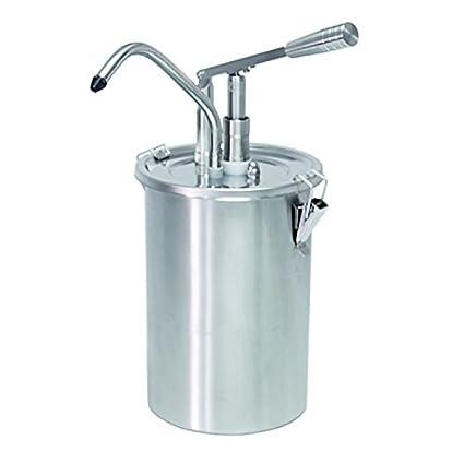 Dispensador de salsa con 5 litros de capacidad, acero inoxidable, con palanca Distancia