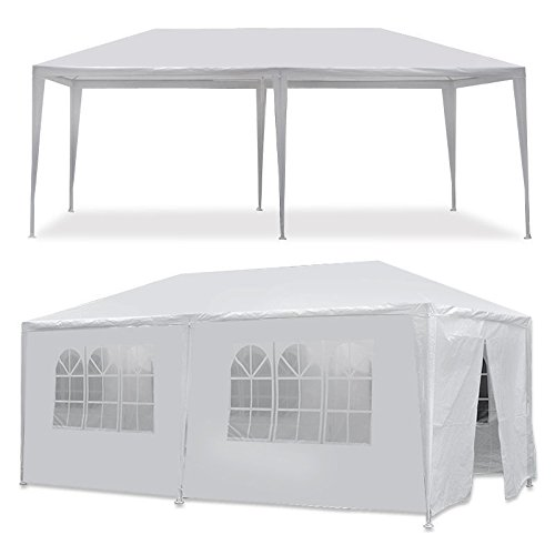 MCombo White Canopy Party Outdoor Wedding Tent Canopy Removable Walls (10x20Ft-6PC) by MCombo