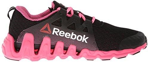 Reebok Womens Zigtech Scarpa Da Corsa Grande E Veloce Nera / Rosa Electro / Bianca