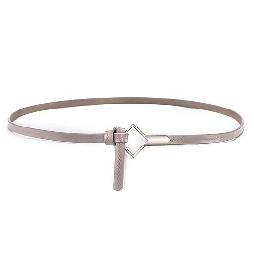 Cinturón de Cuero de Dama Decorar Personalidad Corbata de Piel de ...
