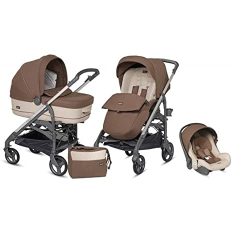 Inglesina - Trilogy Comfort Touch Coffee Cream - Cochecito de bebé 3 en 1: Amazon.es: Bebé