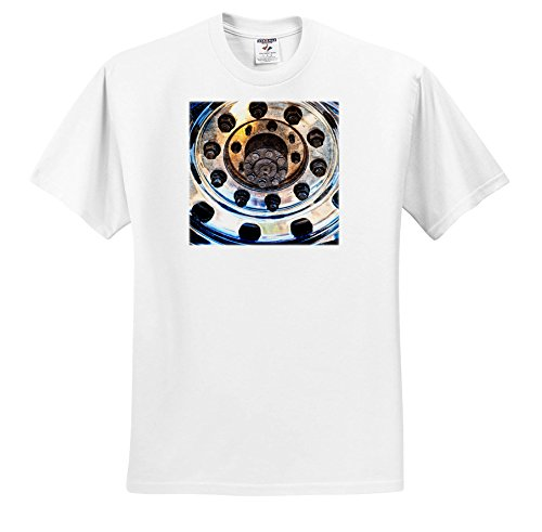 Alexis Photography - Transport Road - Closeup View Of a Metal Chrome Plated Rim Of a Modern Sport Car - T-Shirts - Toddler T-Shirt (2T) (TS_276069_15)