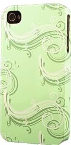 taoyix diy Green Swirls Pattern Dimensional Case Fits Apple iPhone 4 or iPhone 4s