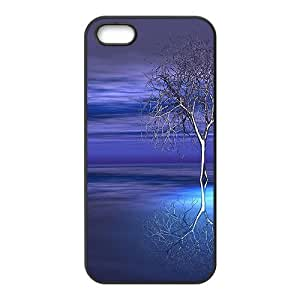 Blue Sky And Tree Black Phone Case for Iphone 5s