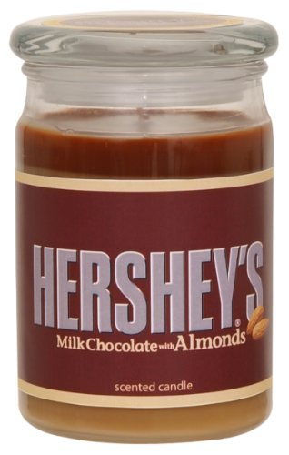 - Hershey's by Hanna's Candle 15-Ounce Milk Chocolate with Almonds Jar Candle