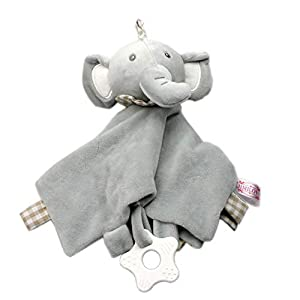 1 pc Plush Infant Security Blanket with Adorable Animal Comfort Blanket Baby Accessories(Elephant)