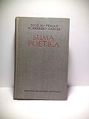 SUMA POÉTICA. Amplia colección de la poesía religiosa española.: Amazon.es: PEMAN, José María y Miguel Herrero (seleccionan): Libros