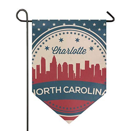 - Printedin3D North Carolina State Charlotte Skyline Garden Flags, Mildew Resistant Custom Waterproof Outdoor Flag, 28