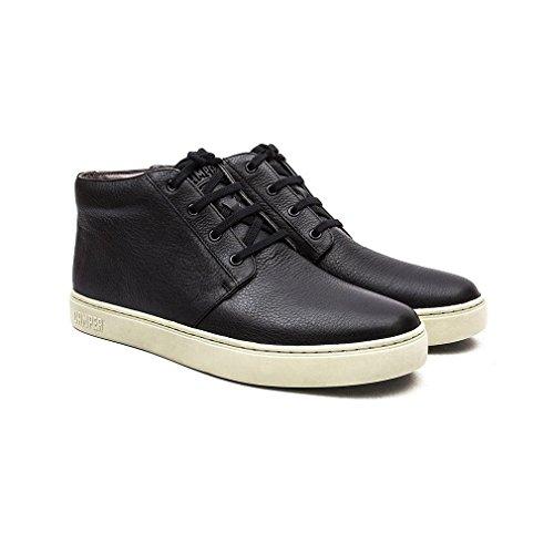 Camper Hombres Negro Pelotas 87 Cuero Zapatos Negro