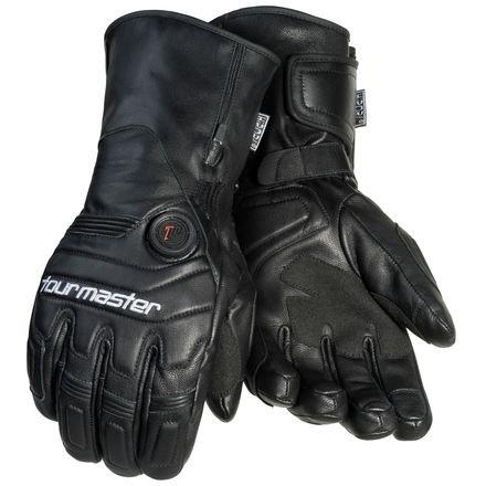 Tourmaster Synergy 7.4V Battery Heated Leather Gloves (X-LARGE) (BLACK)