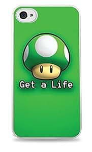Get A Life Mario 1 Up Mushroom White Hardshell Case for iPhone 6 Plus (5.5 inch) i6+