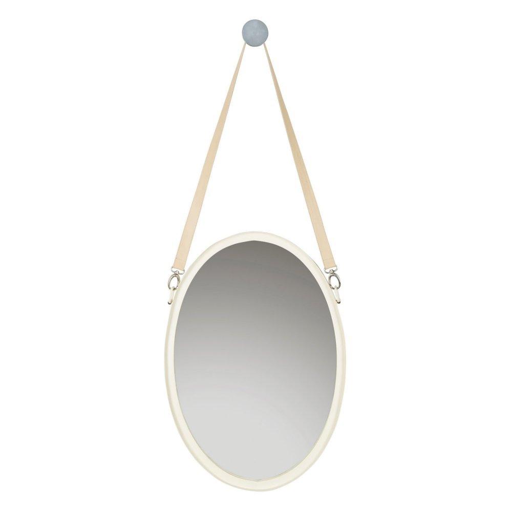 Safavieh Raleigh Ivory Strap Mirror