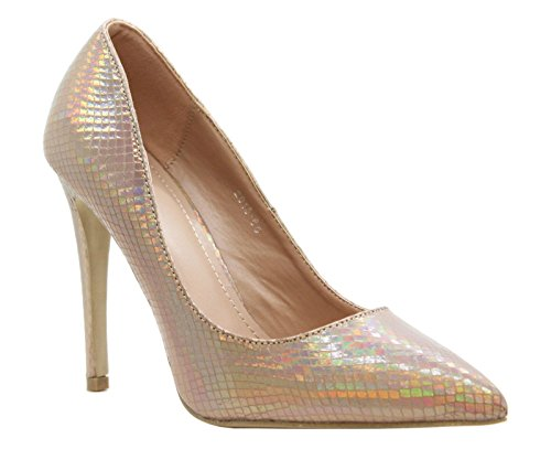 Holographic Saute femme Escarpins Styles Gold xIq4AwIOR