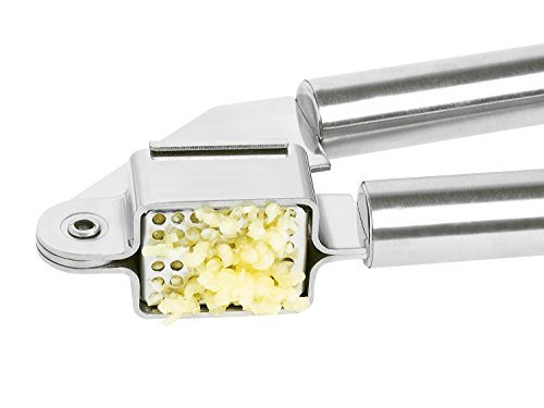 Garlic Press by ADYZON   Best Professional Stainless Steel Mincer - Silicone Peeler Included - For Pampered Chef, Kitchen Aid - Less Time Cooking, More Time Living