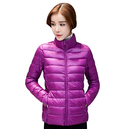 Loisir Uni Blouson Manteau Outerwear Femme Doudoune Quilting Oversize Vtements Elgante Manches Long Size Legere Transition 4XL Hiver Chaud Manche Color Blouson Violett Fashion Pz0zqw5