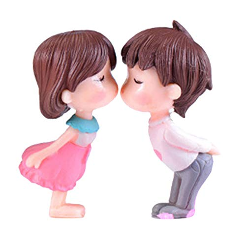 OmkuwlQ PVC Bride and Groom Miniatures Decoration Propose Marriage Lover Wedding Doll Couple Kiss Figurines Garden Ornaments