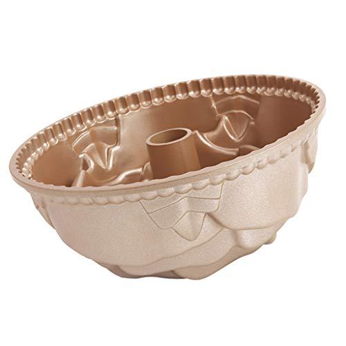 - Prettyia Nonstick 10.9cm Fluted Tube Cake Pan, Warp Resistant Nonstick Baking Pan, Bundt Pan, Rose Shape