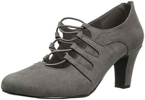 Easy Street Womens Jennifer Dress Pump Grey Super Suede Dqg4WfRPaH