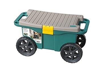 coffre a outils - siege de jardin roulant