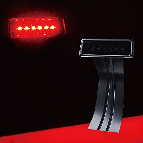 Jeep Brake Replacement - Xprite 3rd LED Replacement Brake Light For 07-18 JK Jeep Wrangler Black with Smoke Lens