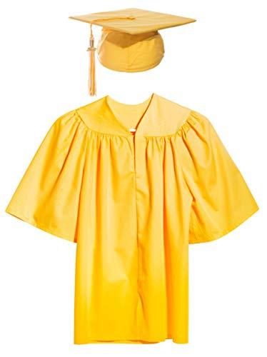 Gold Preschool and Kindergarten Graduation Cap, Gown, Tassel, and Charm - Small ()