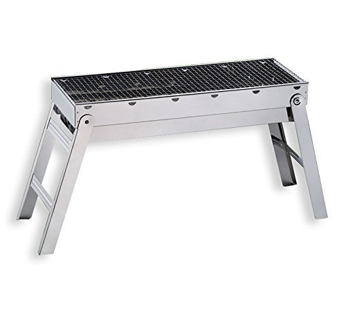 BBQ Grill, Amongus Stainless Steel Charcoal Grill for Cookouts, Tailgate Parties, Camping Outdoor, Portable folding Chinese barbeque grill(SHISH KEBAB GRILL)
