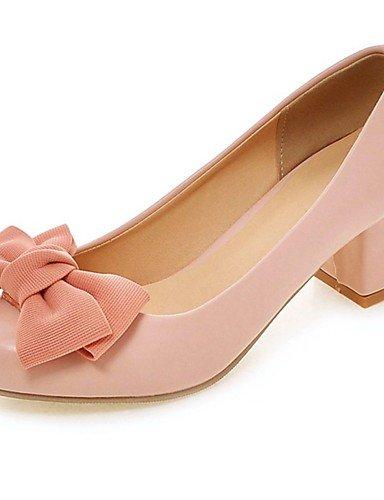 BGYHU GGX/Damen Schuhe PU Sommer-/, Round Toe Heels Büro & Karriere/Casual geschoben Ferse Schleife Schwarz/Pink/Beige pink-us9.5-10 / eu41 / uk7.5-8 / cn42