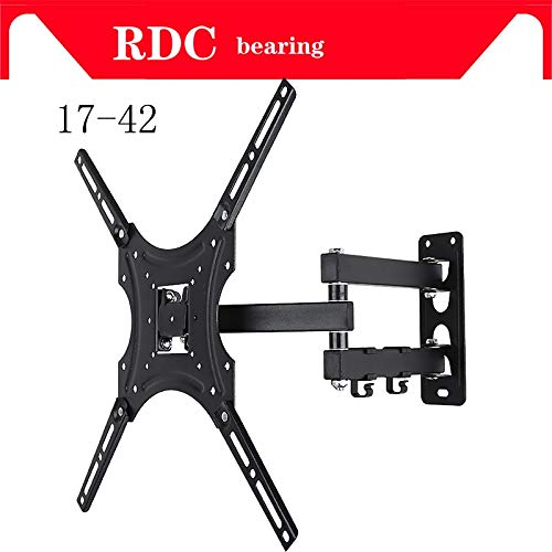 """Ochoos Support 25KG Retractable Full Motion TV Wall Mount Bracket Wall Stand Adjustable Mount Arm Fit for Plasma Flat LED TV 17""""-32"""""""