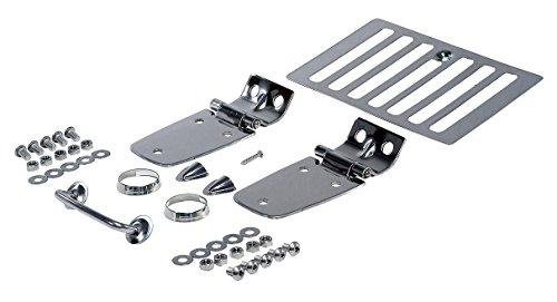 Rugged Ridge 11101.03 Complete Hood Kit, Stainless Steel for 98-06 Jeep TJ & LJ Wrangler