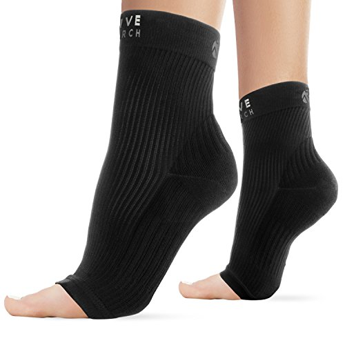 Active Research® Compression Ankle Sleeve - Best Plantar Fasciitis & Ankle Sprain Support Brace - Relieves Aches and Pains - Medium (Form Sleeve)